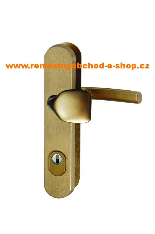Bezpečnostní klika-madlo s překrytim vložky roz.90 bronz bezpečnostní klika -madlo,bronz