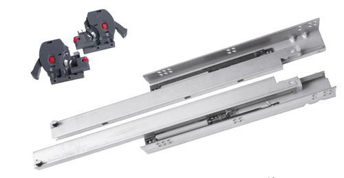 Skrytý výsuv 3D 500 mm s tlumeným dotahem a regulací StrongRide 3D celovýsuv 500mm s tlumením