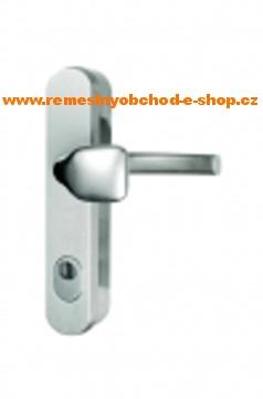 Bezpečnostní klika-madlo s překrytim vložky roz.90 bezpečnostní klika -madlo,elox-stříbrný