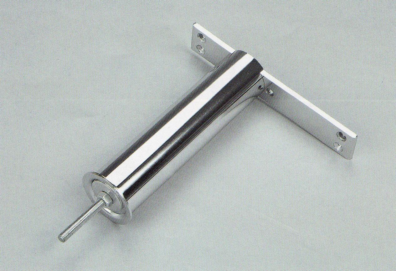 Podpěra barového pultu – rovná 180x220mm chrom mat Chrom mat 180x220mm